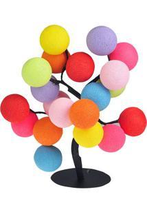 Luminária Árvore De Luz Tutti Frutti- Rosa & Azul- 3Cormilu