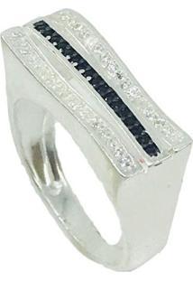 Anel Prata Cravejado Perfect Shine Prata 925
