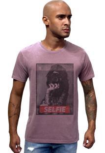 Camiseta Joss Estonada Selfie Roxo