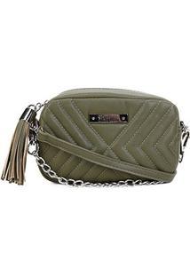 Bolsa Santa Lolla Mini Bag Matelassê Corrente Feminina - Feminino-Musgo