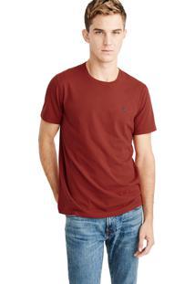 Camiseta Manga Curta Abercrombie Básica Vermelha