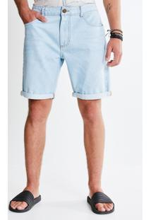 Bermuda Barra Dobrada Em Jeans