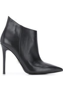 Michael Michael Kors Ankle Boot Antonia Com Salto Agulha - Preto