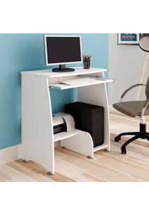 Mesa Escrivaninha Para Computador Artely Pixel 3 Prateleiras Branca