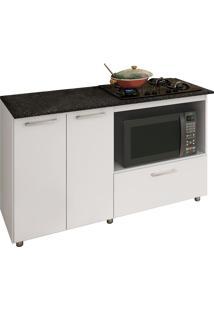 Balcão Completa Móveis Bl 210 Bc Para Cooktop E Microondas Branco