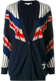 Stella Mccartney Cardigan Com Decote - Azul