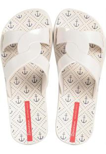Chinelo Slide Feel Print Bege Bege