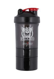 Coqueteleira Shaker Integralmédica Darkness - 400Ml - 3 Doses - Preto