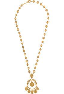 Dolce & Gabbana Votive Image Drop Necklace - Dourado