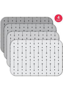 Jogo Americano Love Decor Wevans Basic Flechas Kit Com 4 Pçs