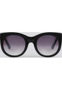 Óculos De Sol Redondo Feminino Yessica Preto