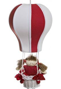 Lustre Balão Cintura Vermelho Potinho De Mel Vermelho