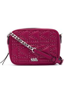 Karl Lagerfeld Bolsa K/Kuilted Com Tachas - Rosa
