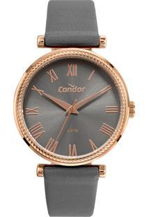 Relógio Condor Feminino Model Analógico Cinza Co2035Mufk2C - Kanui