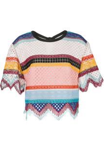 Carolina Herrera Blusa De Crochê Com Listras - Estampado