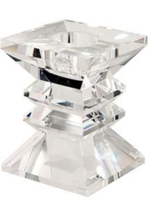 Castiçal De Cristal Zig Zag P Para 1 Vela - Unissex