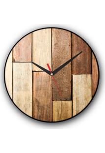 Relógio De Parede Colours Creative Photo Decor Decorativo, Criativo E Diferente - Textura De Madeira
