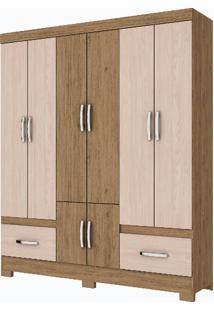 Guarda-Roupa 8 Portas Henn Briz B27-96 Rustico Fendi Se