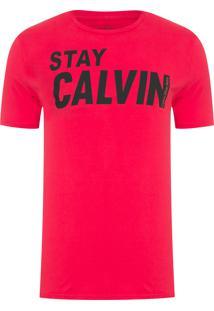 Camiseta Masculina Manga Curta Stay - Vermelho