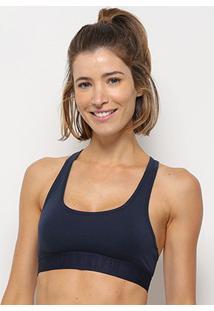 Top Calvin Klein Racerback Feminino - Feminino-Marinho