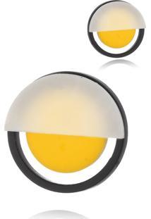 Brinco Le Diamond De A Mini Amarelo