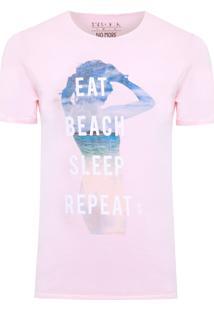 Camiseta Masculina Beach Sleep - Rosa