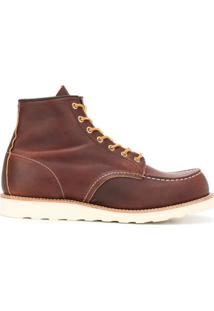 Red Wing Shoes Ankle Boot Com Amarração - Marrom