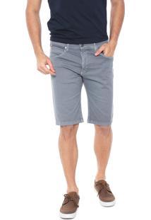 Bermuda Sarja Wrangler Slim Color Cinza