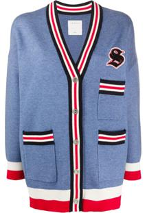 Sandro Paris Cardigan Ted - Azul