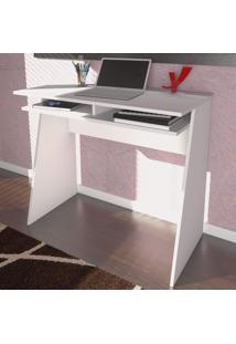 Mesa Escrivaninha Kiev 2 Nichos Branco - Artany