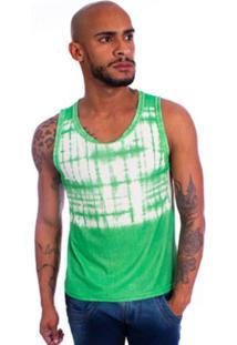 Camisa Brookside Regata Tie Dye Verde
