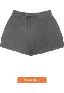 Shorts Feminino Cinza