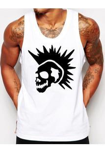 ... Camiseta Regata Criativa Urbana Caveira Punk Branco 82c5c8eb1e0