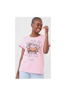 Camiseta Colcci Alma De Verão Rosa