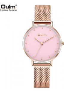 Relógio Lady Oulm Ht3671- Rose