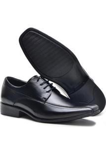 Sapato Social Lsb Shoes Espumado Leve Masculino - Masculino-Preto