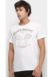 Camiseta Colcci Royal Ancient Masculina - Masculino-Off White