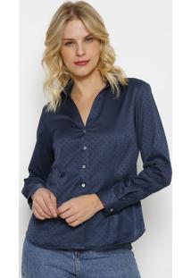 Camisa Texturizada Com Tag- Azul Escuro- Vip Reservavip Reserva