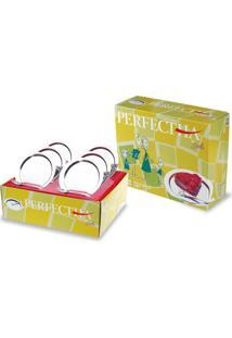 Conjunto Inox 6 Pratos E 6 Garfos Perfectha