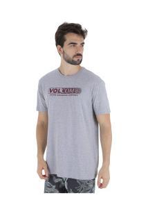 Camiseta Volcom Harsh Fade - Masculina - Cinza