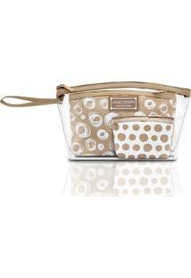 Kit De Necessaires Pequenas Jacki Design Pop Art Bege