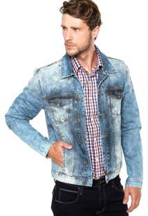 Jaqueta Jeans Colcci Felipe Estonada Azul