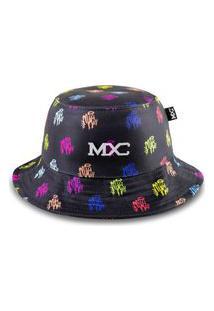 Chapéu Bucket Mxc Brasil Rag Hip Hop Colors Preto