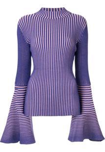 Solace London Suéter De Tricô Listrado - Roxo