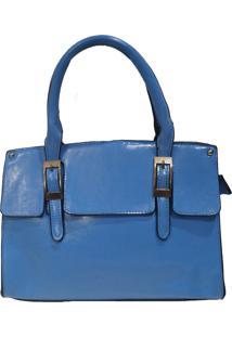 Bolsa Real Arte Detalhe Fivela Azul Claro