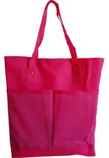 Bolsa Bag Dreams De Praia Impermeável Com Bolsos Rosa - Kanui
