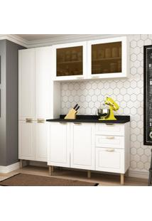 Cozinha Completa 4 Peã§As Americana Multimã³Veis 5672 Branco - Branco/Incolor - Dafiti