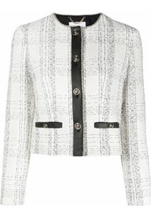 Salvatore Ferragamo Blazer Slim De Tweed - Branco
