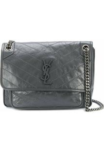 Saint Laurent Niki Shoulder Bag - Cinza
