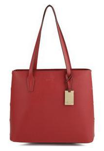 Bolsa Shopping Bag Rebites Laterais Vermelho - Vermelho/Un